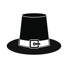 Gorgeous pilgrim hat icon