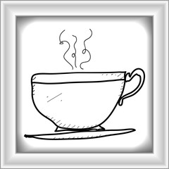 Simple doodle of a cup of tea