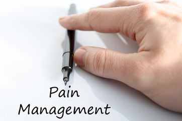 Pain management text concept