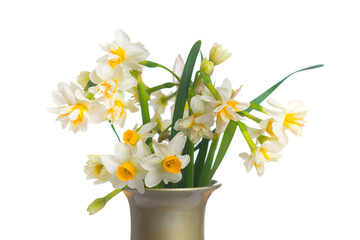 Bouquet of daffodils. Selective focus