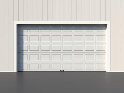 Simple white garage door