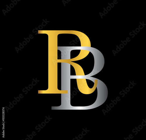 500 Rb Initial Letter With Gold And Silver