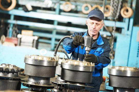 assembler worker at tool workshop
