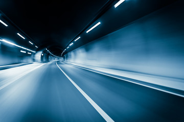 motion blur of the highway road