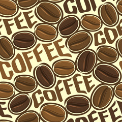 Background vector illustration on the theme of roasted brown coffee beans for wallpaper