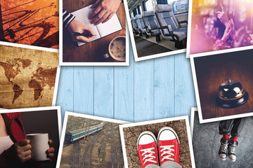 Urban youth lifestyle photo collage