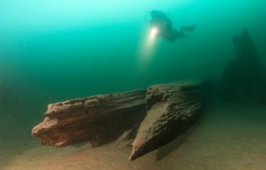 Foto op Plexiglas Duiken Scuba diving in Austria