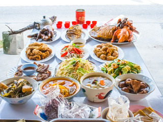 food sacrificial offering for chinese ancestor worshiping
