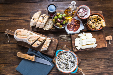 Spanish tapas, bar or street food