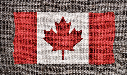 Canadian flag printed on fabric