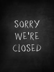 Sorry we're closed on blackboard