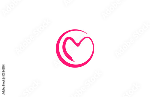 Circle Love Letter M Logo
