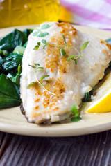Fish dish -  fish fillet with chard