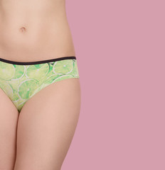 silhouette slim women - the concept of the care of the body