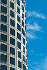 Glass facade, high-rise building
