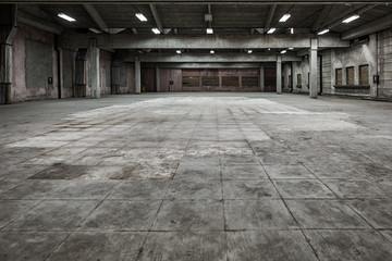 Photo sur Plexiglas Les vieux bâtiments abandonnés Grunge hall of abandoned factory