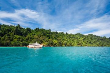 Koh Laoya Sea of Thailand. Pleasure craft.