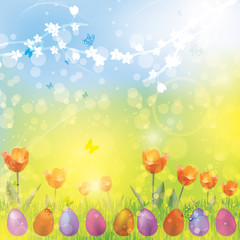 Easter spring colorful vector illustration