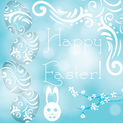 Happy Easter decorative vector illustration
