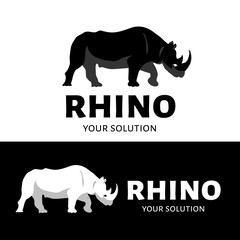 Vector logo Rhino. Brand logo in the shape of a Rhino