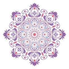 Mandala or circular floral pattern