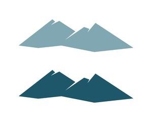 Simple Blue Mountain Logo Template