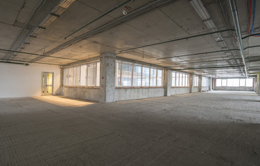 interior of business center under construction