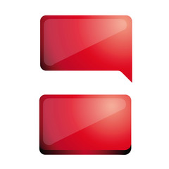 Blank web button red