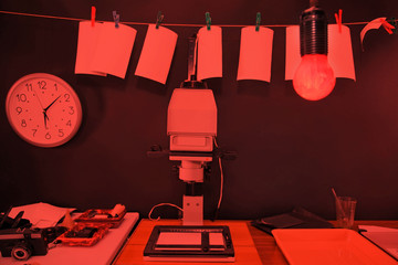 Darkroom printing photos