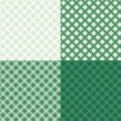 Diagonal tablecloth seamless wallpaper pattern set.