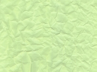 Texture of crumpled green paper.