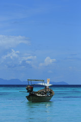 A longtail boat in Thailand