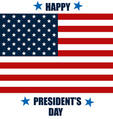 Happy Presidents Day. Presidents day banner illustration design