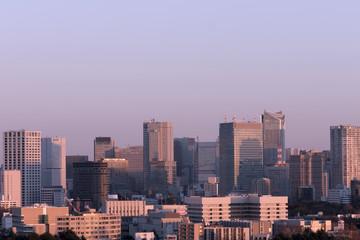 東京都市風景 赤坂 虎ノ門 溜池 夕日