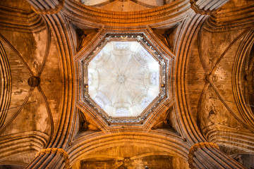 Vaulted Ceiling and Dome of Barcelona Cathedral