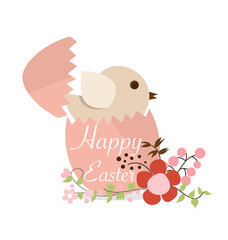 Happy easter cards with Easter eggs. Vector illustration.