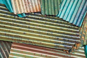 Colorful zinc roof
