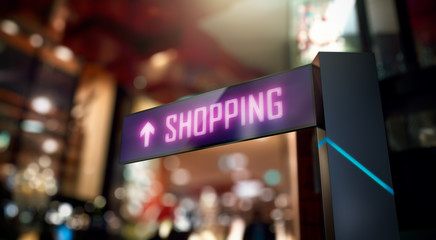 LED Display - Shopping Center direction sign