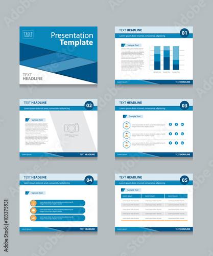 business presentation template set.powerpoint template design ...