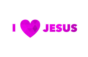 I love Jesus, font, heart