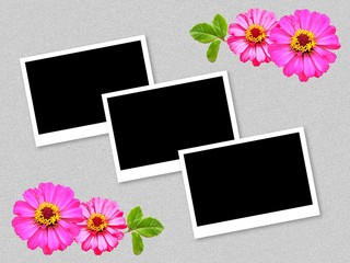 photo frame on grunge illustration background