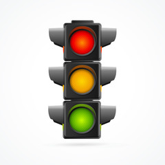 Traffic Lights Realistic. Vector
