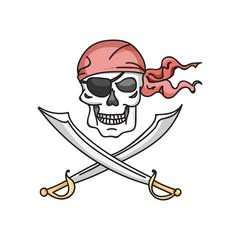Jolly roger icon vector