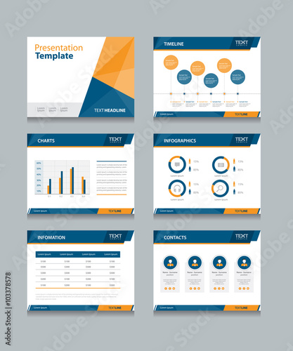 Business Presentation Template Setpowerpoint Template Design