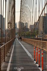 Bicycle and Pedestrian Walkway on Brooklyn Bridge
