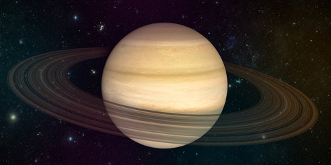 Wall Mural - planet saturn with rings