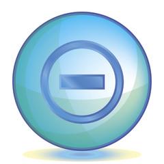 Icon Minus color of aqua