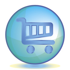 Icon Shopping cart color of aqua