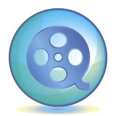 Icon Video color of aqua
