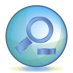 Icon Zoom out color of aqua